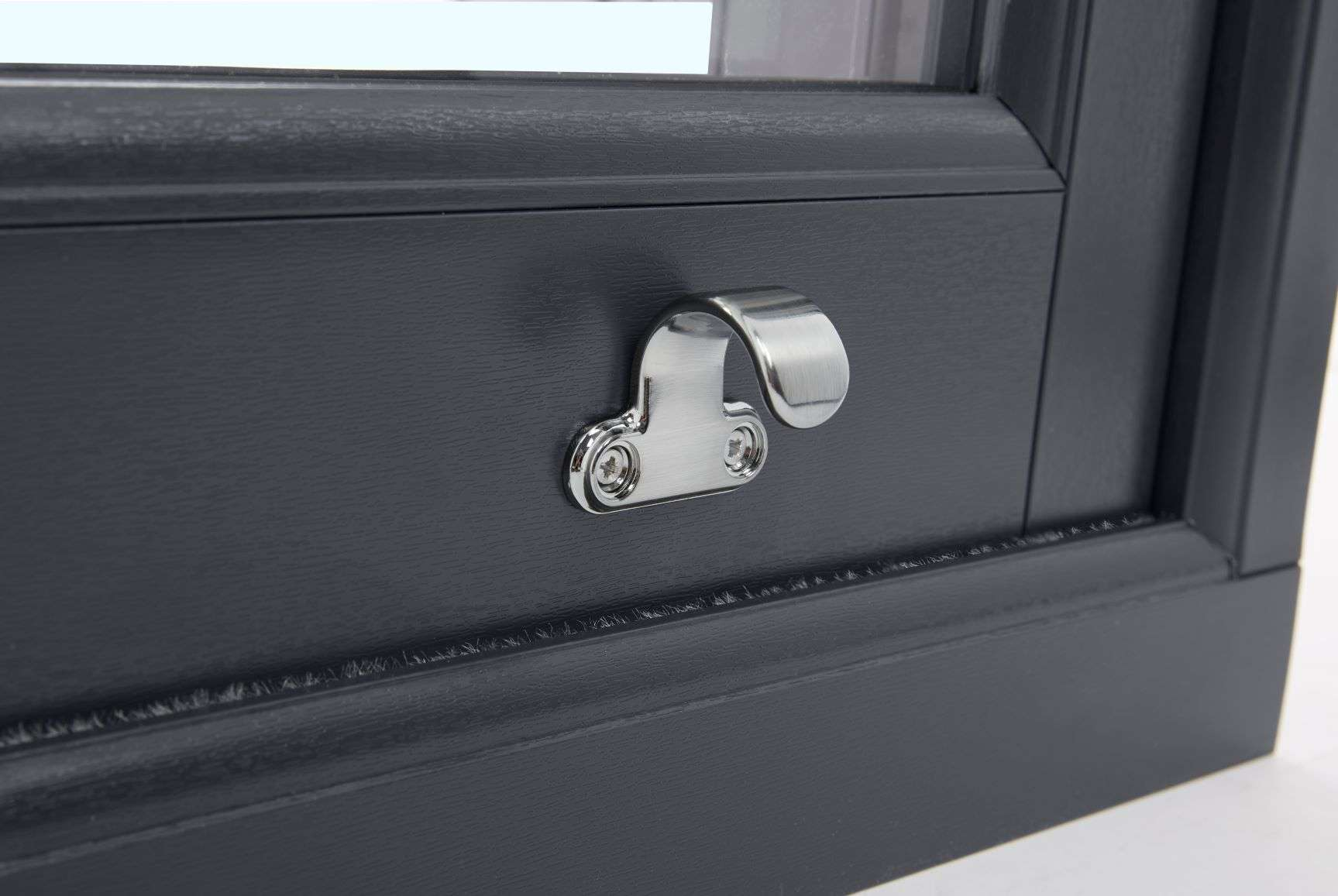Anthracite Grey Vertical Slider Close-up