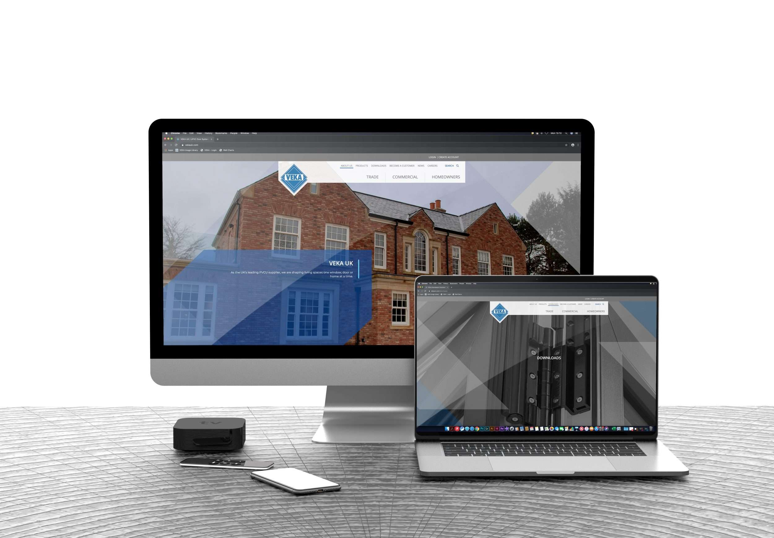 New VEKA UK website mockup