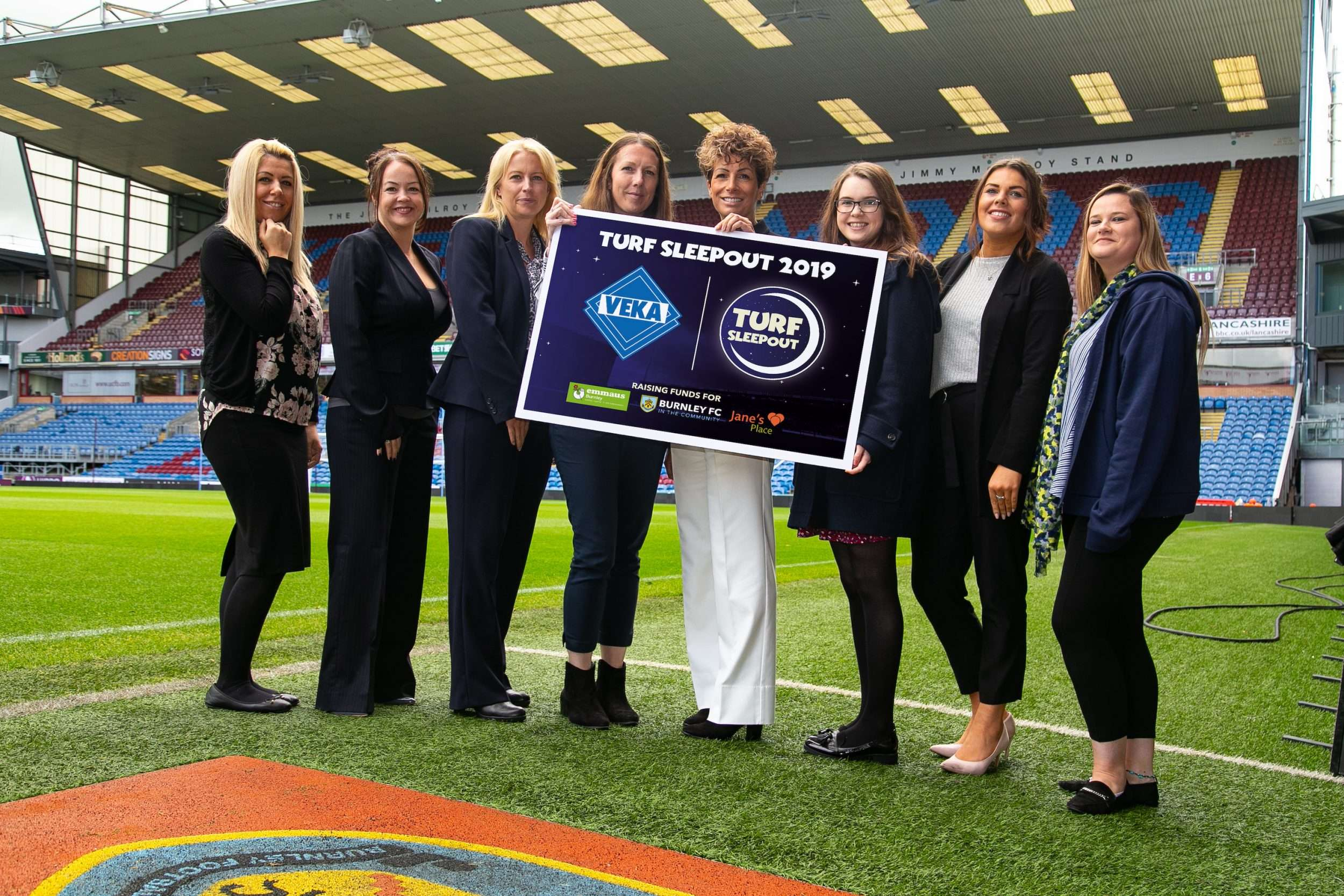 VEKA team at Burnley football Club